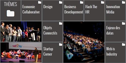 THèmes abordés lors de Web2Day 2013